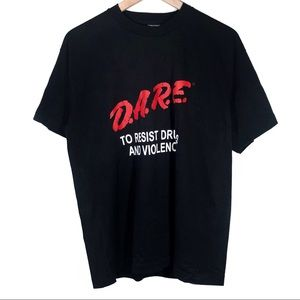 Vtg DARE Single Stitch Resist Drugs and Violence L